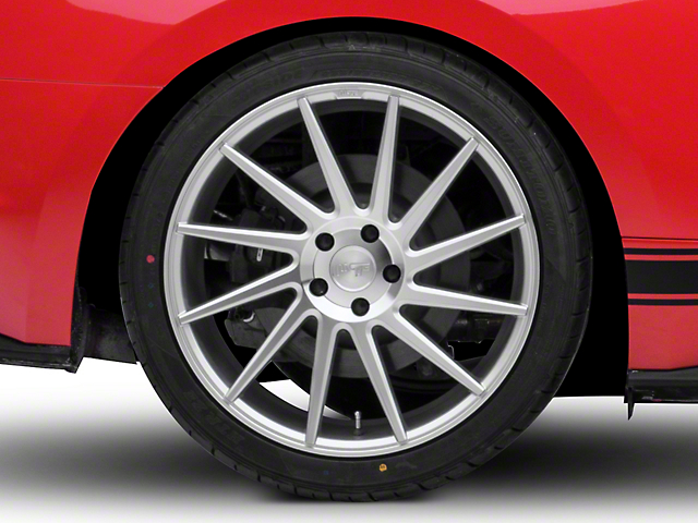 Niche Surge Silver Machined Directional Wheel - Passenger Side - 20x10 (15-17 All)