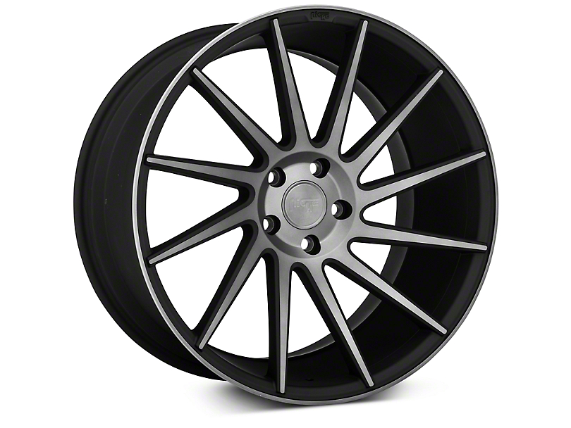 Niche Surge Double Dark Directional Wheel - Passenger Side - 20x10 (15-18 All)
