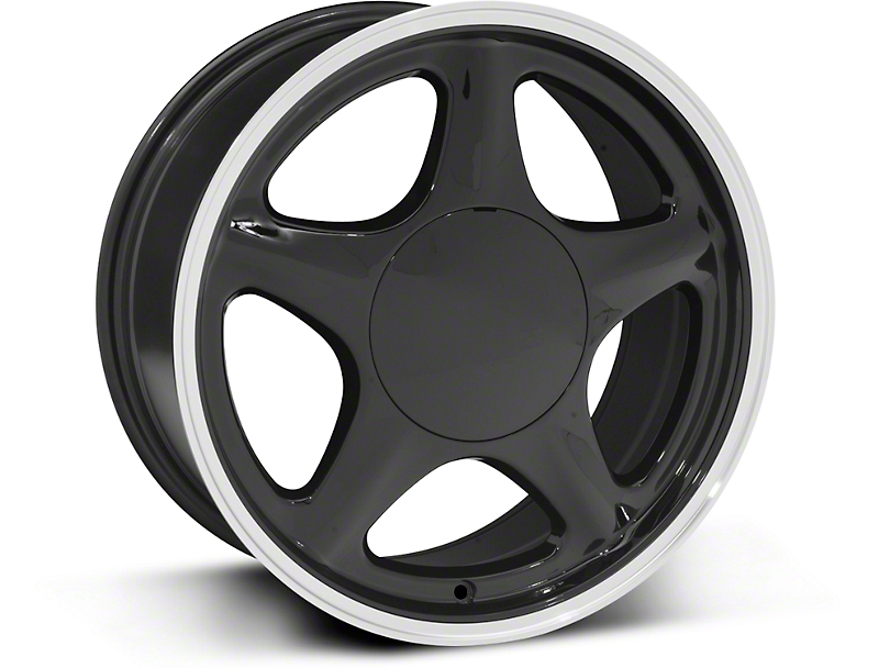 Pony Style Black w/ Machined Lip Wheel - 17x8 (87-93 All, Excluding Cobra)
