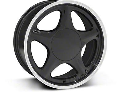 Pony Style Black w/ Machined Lip Wheel - 17x8 (87-93 All, Excluding 1993 Cobra)