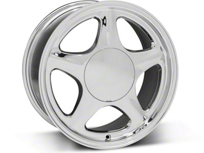 Pony Style Chrome Wheel - 17x8 (87-93 All, Excluding Cobra)