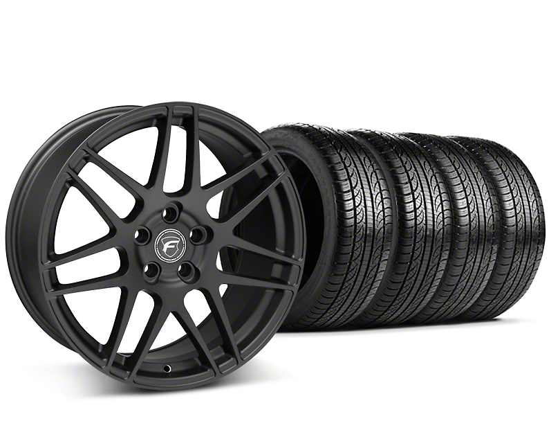 Forgestar F14 Monoblock Matte Black Wheel & Pirelli Tire Kit - 19x9.5 (15-17 All)