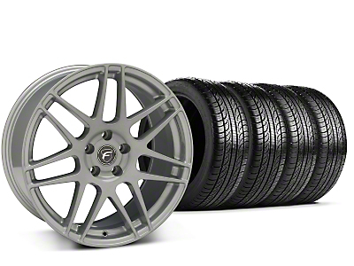Forgestar F14 Monoblock Silver Wheel & Pirelli Tire Kit - 19x9.5 (15-18 All)