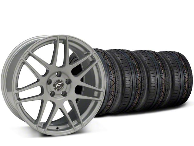 Forgestar F14 Monoblock Silver Wheel & Nitto Invo Tire Kit - 19x9.5 (15-18 All)