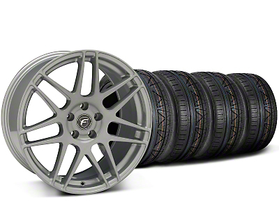 Forgestar F14 Monoblock Silver Wheel & Nitto Invo Tire Kit - 19x9.5 (15-19 All)