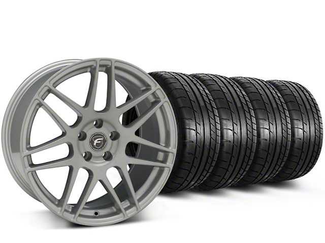 Forgestar F14 Monoblock Silver Wheel & Mickey Thompson Tire Kit - 19x9.5 (15-18 All)