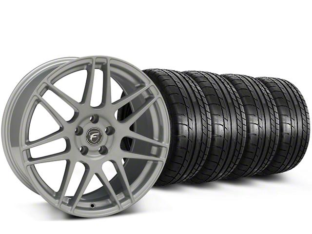 Forgestar F14 Monoblock Silver Wheel & Mickey Thompson Tire Kit - 19x9.5 (15-17 All)