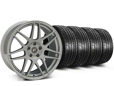 Forgestar F14 Monoblock Silver Wheel & Mickey Thompson Tire Kit - 19x9.5 (15-17 All)