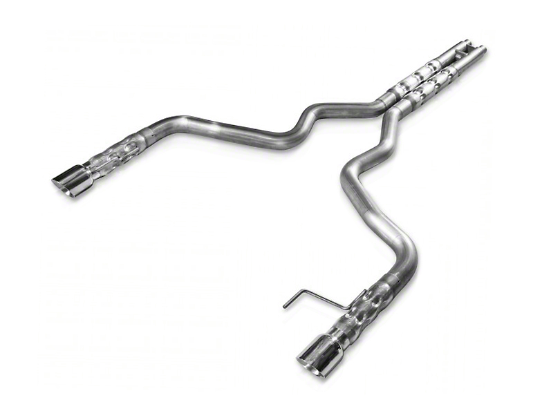 Stainless Works 3-Inch Retro Chambered Cat-Back Exhaust with H-Pipe (15-17 GT Fastback)