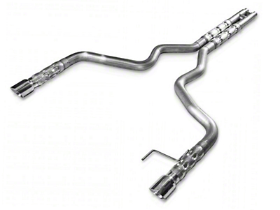 Stainless Works 3 in. Retro Chambered Cat-Back Exhaust w/ H-Pipe (15-17 GT Fastback)