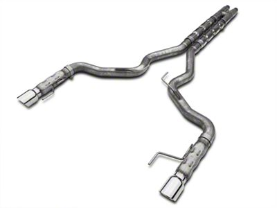 Add Stainless Works 3 in. Retro Chambered Cat-Back Exhaust w/ H-Pipe (15-17 GT Fastback w/ Long Tube Headers)