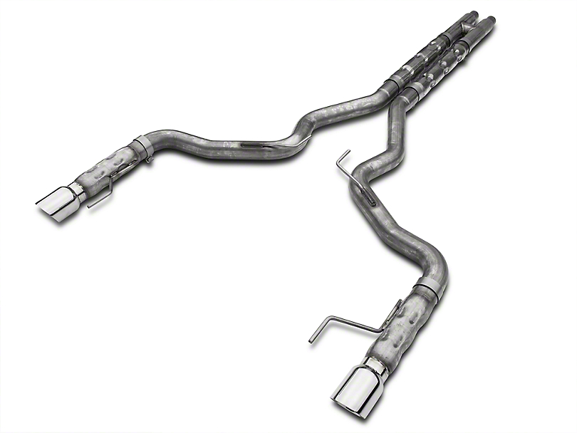 Stainless Works 3 in. Retro Chambered Cat-Back Exhaust w/ H-Pipe (15-17 GT Fastback w/ Long Tube Headers)