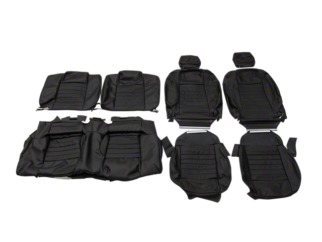 OPR Replacement Leather Seat Upholstery - Black (05-09 Coupe)