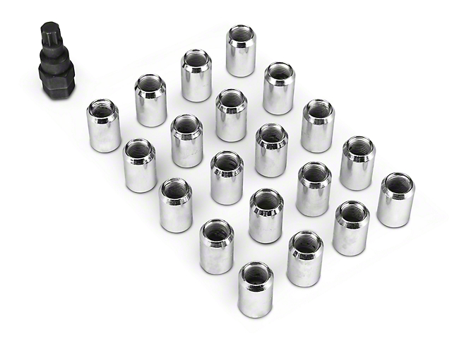 Chrome Tuner Style Lug Nuts - 14mm x 1.50 (15-18 All)