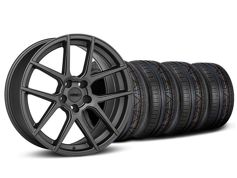 MMD Zeven Charcoal Wheel & NITTO INVO Tire Kit - 20x8.5 (15-19 GT, EcoBoost, V6)
