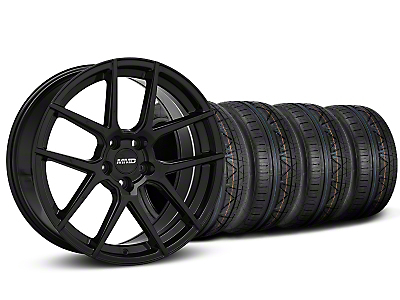 MMD Zeven Black Wheel & NITTO INVO Tire Kit - 20x8.5 (15-18 GT, EcoBoost, V6)