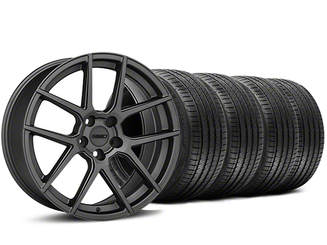 MMD Zeven Charcoal Wheel & Sumitomo Tire Kit - 20x8.5 (15-19 All)