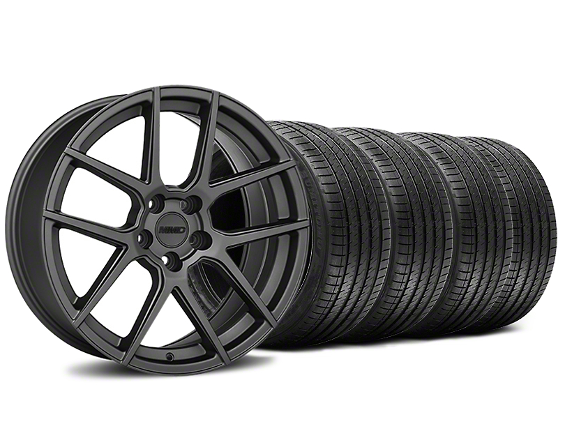 Staggered MMD Zeven Charcoal Wheel & Sumitomo Tire Kit - 20x8.5/10 (15-18 All)