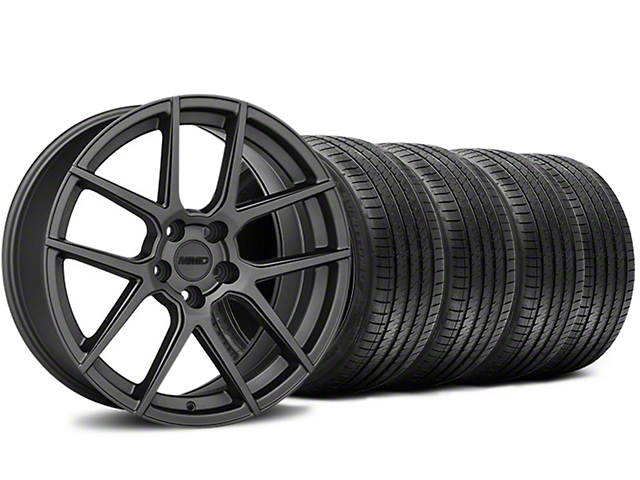 Staggered MMD Zeven Charcoal Wheel & Sumitomo Tire Kit - 20x8.5/10 (15-17 All)