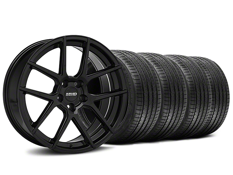 Staggered MMD Zeven Black Wheel & Sumitomo Tire Kit - 20x8.5/10 (15-18 All)