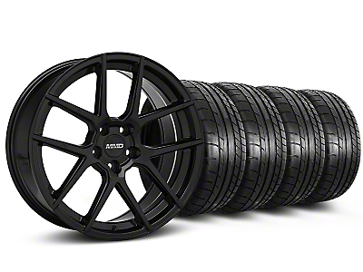 MMD Staggered Zeven Black Wheel & Mickey Thompson Tire Kit - 20x8.5/10 (15-17 All)