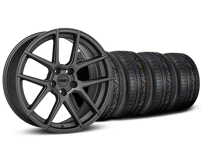 Staggered MMD Zeven Charcoal Wheel & NITTO INVO Tire Kit - 20x8.5/10 (15-18 All)