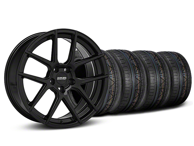 Staggered MMD Zeven Black Wheel & NITTO INVO Tire Kit - 20x8.5/10 (15-17 All)