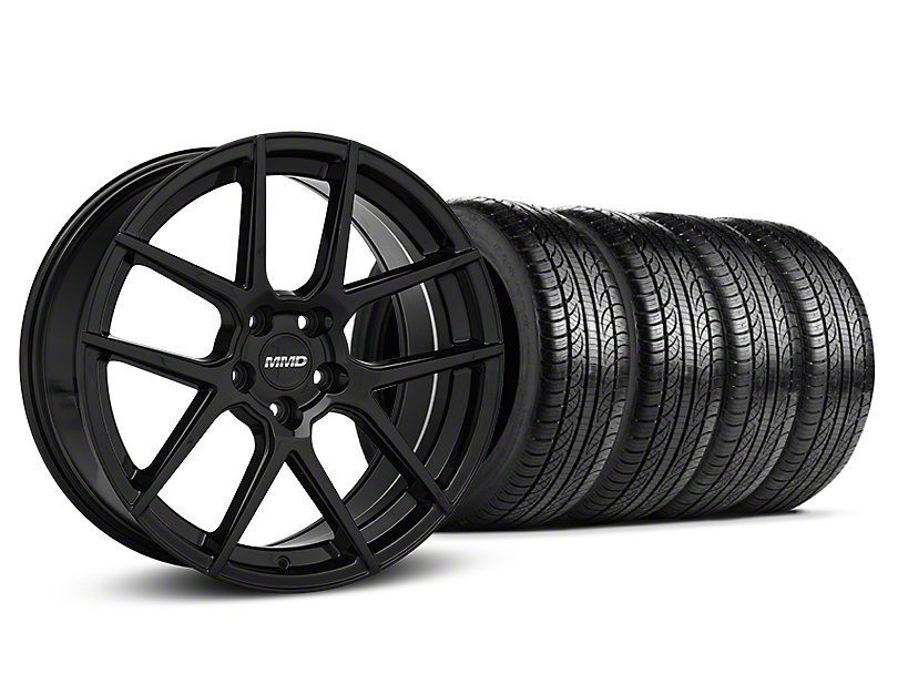 MMD Zeven Black Wheel & Pirelli Tire Kit - 19x8.5 (15-18 All)