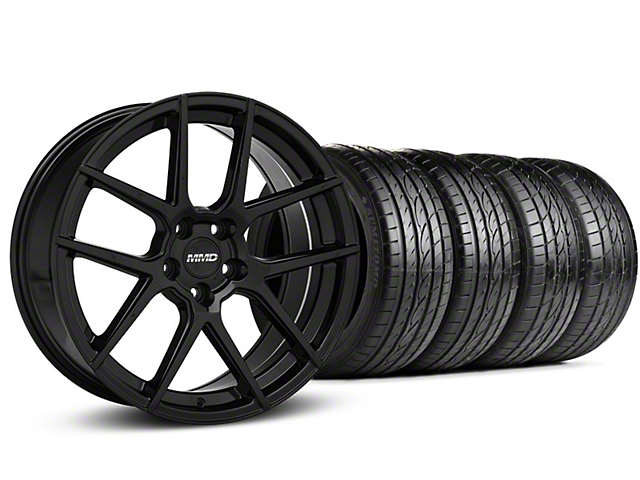 MMD Zeven Black Wheel & Sumitomo Tire Kit - 19x8.5 (15-20 GT, EcoBoost, V6)