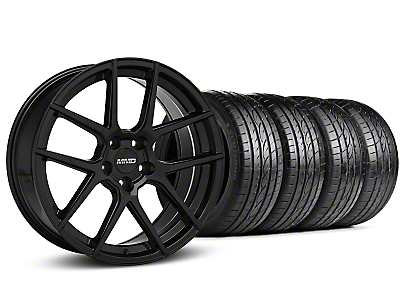 MMD Zeven Black Wheel & Sumitomo Tire Kit - 19x8.5 (15-18 All)