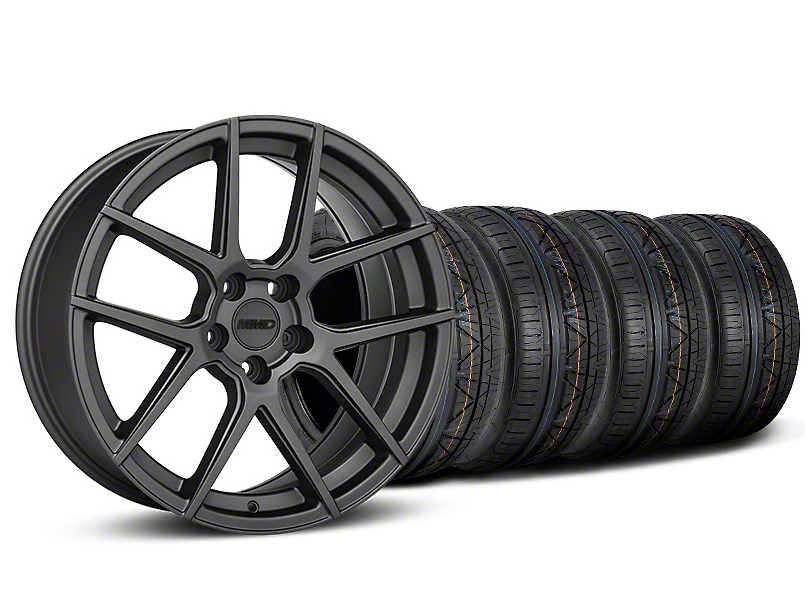 MMD Zeven Charcoal Wheel & NITTO INVO Tire Kit - 19x8.5 (15-19 GT, EcoBoost, V6)