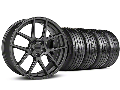 Staggered MMD Zeven Charcoal Wheel & Sumitomo Tire Kit - 19x8.5/10 (15-18 All)