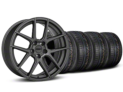 Staggered MMD Zeven Charcoal Wheel & NITTO INVO Tire Kit - 19x8.5/10 (15-18 GT, EcoBoost, V6)