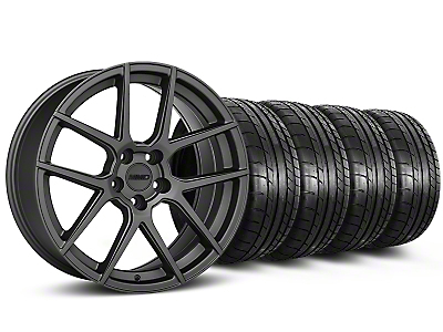 Staggered MMD Zeven Charcoal Wheel & Mickey Thompson Tire Kit - 19x8.5 (15-17 All)