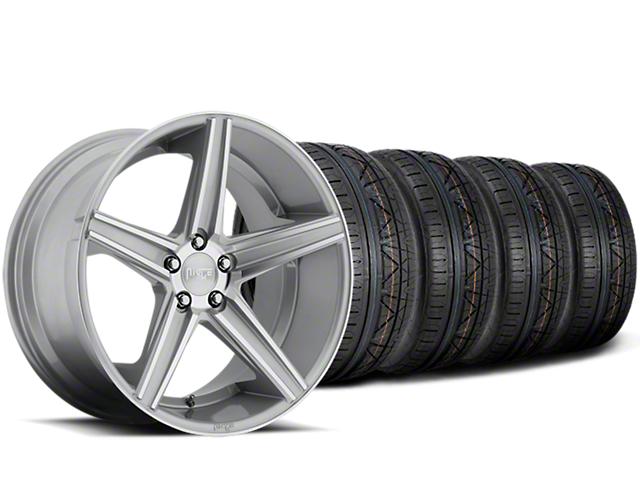 Niche Apex Machined Silver Wheel & NITTO INVO Tire Kit - 20x8.5 (15-17 All)