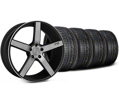 Niche Milan Matte Black Machined Wheel & NITTO INVO Tire Kit - 20x8.5 (15-18 All)
