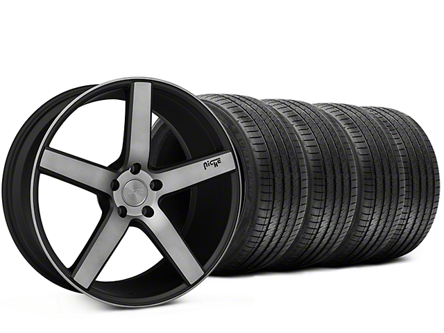 Niche Milan Matte Black Machined Wheel & Sumitomo Tire Kit - 20x8.5 (15-18 All)