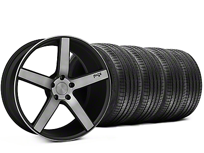 Niche Milan Matte Black Machined Wheel & Sumitomo Tire Kit - 20x8.5 (15-17 All)
