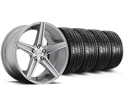 Niche Apex Machined Silver Wheel & Mickey Thompson Tire Kit - 20x8.5 (15-18 All)