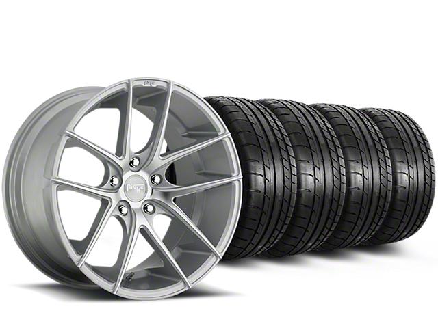 Niche Targa Matte Silver Wheel & Mickey Thompson Tire Kit - 20x8.5 (15-18 All)