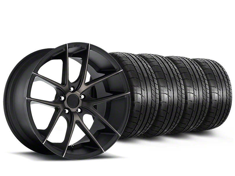 Niche Targa Black Wheel & Mickey Thompson Tire Kit - 20x8.5 (15-17 All)