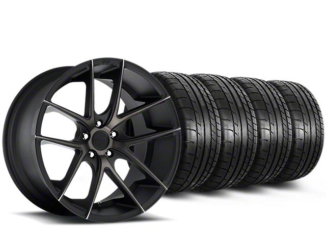 Niche Targa Black Wheel & Mickey Thompson Tire Kit - 20x8.5 (15-18 All)