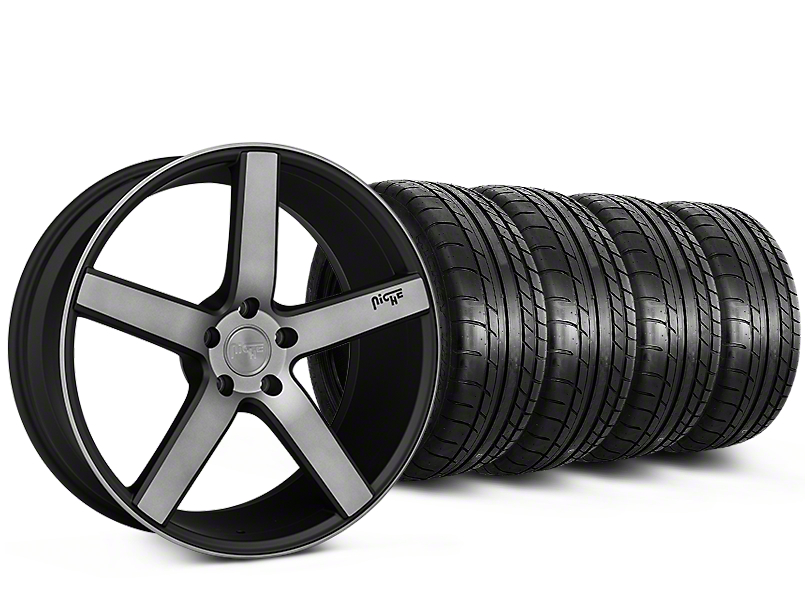 Niche Milan Matte Black Machined Wheel & Mickey Thompson Tire Kit - 20x8.5 (15-19 All)