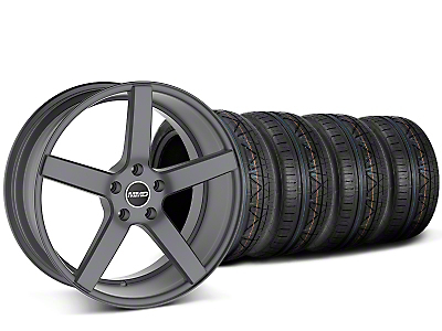 MMD 551C Charcoal Wheel & NITTO INVO Tire Kit - 20x8.5 (15-18 GT, EcoBoost, V6)