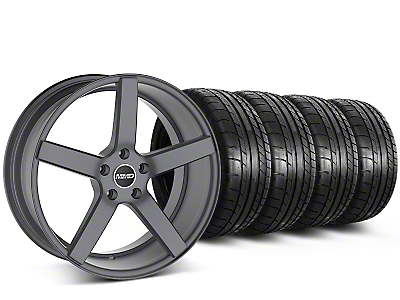 MMD 551C Charcoal Wheel & Mickey Thompson Tire Kit - 20x8.5 (15-19 GT, EcoBoost, V6)