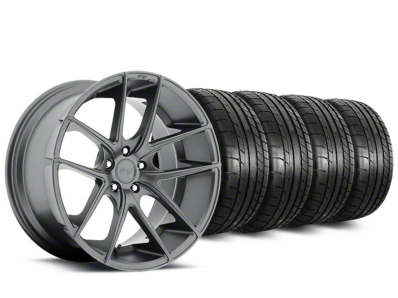Staggered Niche Targa Matte Anthracite Wheel & Mickey Thompson Tire Kit - 20 in. - 2 Rear Options (15-18 All)