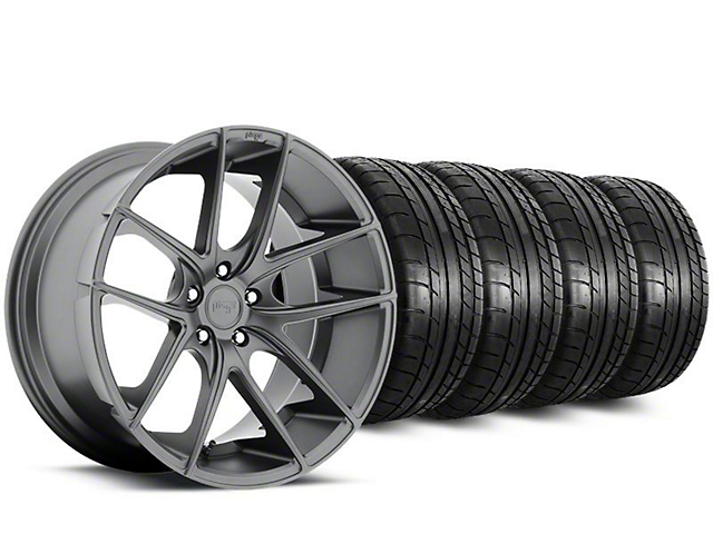 Staggered Niche Targa Matte Anthracite Wheel & Mickey Thompson Tire Kit - 20 in. - 2 Rear Options (15-19 All)