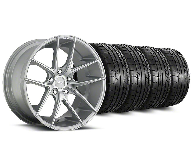 Staggered Niche Targa Matte Silver Wheel & Mickey Thompson Tire Kit - 20 in. - 2 Rear Options (15-17 All)