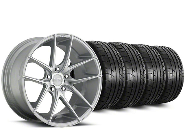 Staggered Niche Targa Matte Silver Wheel & Mickey Thompson Tire Kit - 20 in. - 2 Rear Options (15-18 All)