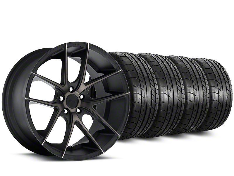 Staggered Niche Targa Black Wheel & Mickey Thompson Tire Kit - 20 in. - 2 Rear Options (15-19 All)